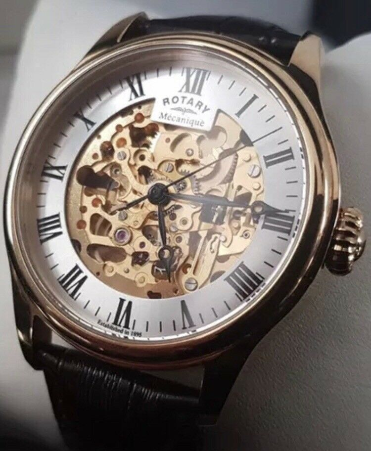 06f5cd222e7e Men s Skeleton Rotary wrist watch. Leicester ...
