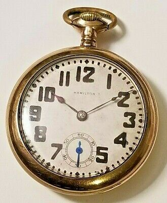 BALL HAMILTON 19J 999G POCKET WATCH 18s J Boss Gold Filled Case Running A