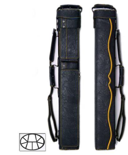 Delta 3x6 Yellow HUSTLER Case - Memory Foam - Leather Cue Case