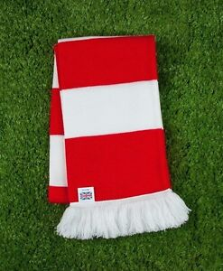 Sunderland AFC Colours Retro Bar Scarf - Red & White - Made in UK