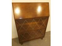 Vintage retro shabby chic antique wooden book case display cabinet office computer work desk bureau