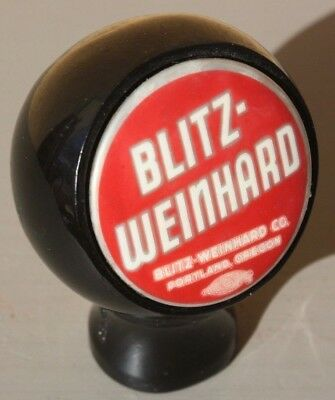 Red Blitz-Weinhard Beer Ball Knob / Tap Handle Portland, Oregon
