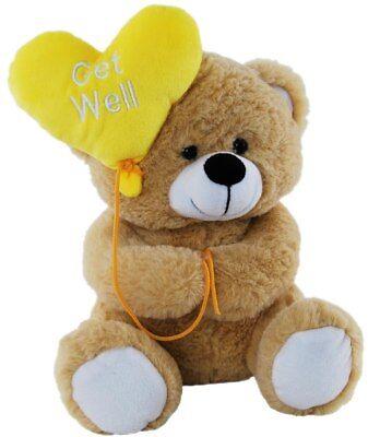 *BNWT* TEDDY BEAR HOLDING YELLOW BALLON :GET WELL SOON