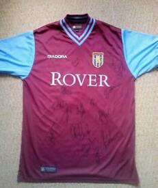 Signed Aston Villa football Shirt , Gareth Barry etc., Great Xmas Present!