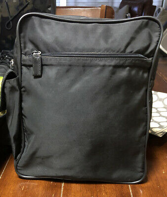 Vintage Prada Tessuto Black Nylon Sling Backpack Crossbody