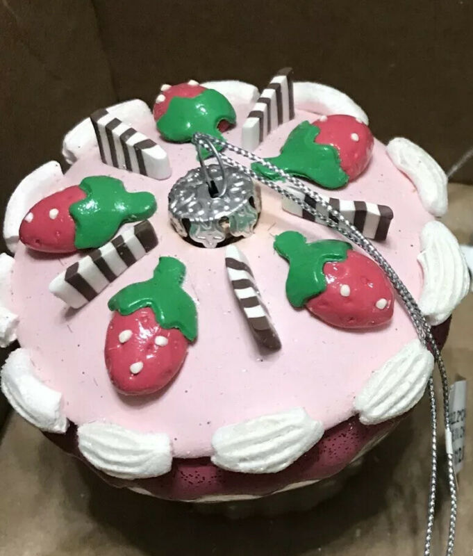 Strawberry Cupcake Christmas Tree Ornament, Bakery, Decorated