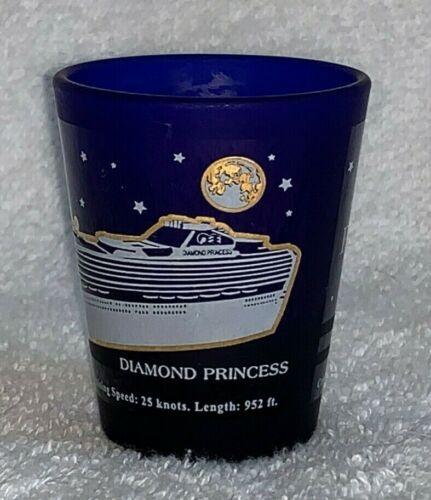 Diamond Princess Cruise Shot Glass Cobalt Blue Ship Specifications Crew Speed