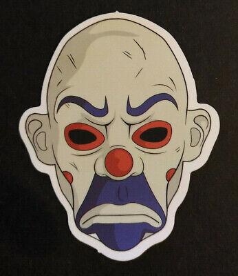 Scary Mean Face Clown Horror Head Skateboard / Snowboard Bumper Sticker Decal - Mean Clown Faces