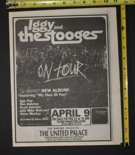 Iggy and The Stooges On Tour 2007 Album/Concert Ad The Weirdness