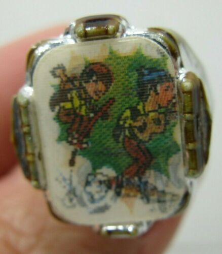 1960's MONKEES TV Show Flicker Cereal Premium Toy Ring Vintage