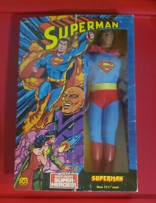 "VINTAGE RARE 1977 12.5"" 12 1/2"" MEGO SUPERMAN MOVIE REEVE FIGURE MINT IN BOX"