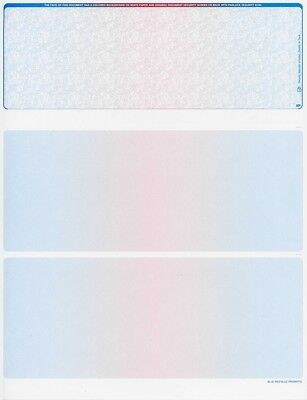 Blank Check Stock - Blank Check Paper Stock-Check On Top-Prismatic BlueRedBlue-Count/100