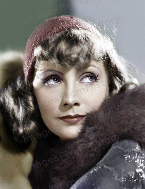 8x10 Print Greta Garbo Beautiful Colorized Portrait #GGJV