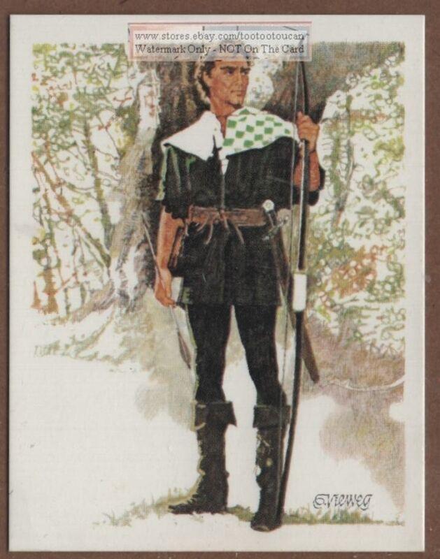 Legend of Robin Hood English Outlaw Sherwood Forest Nottingham 35+ Y/O Ad Card