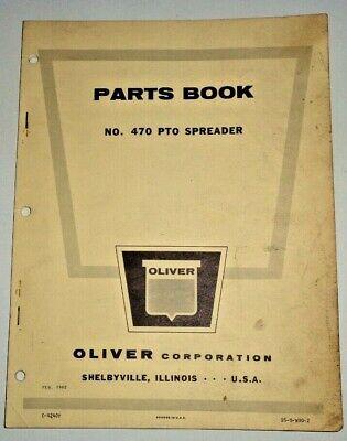 Oliver 470 Pto Spreader Parts Manual Catalog Book Original 262