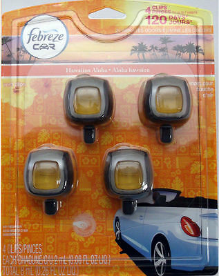 4 Febreze Car Vent Clips, Air Freshener,Eliminates ...