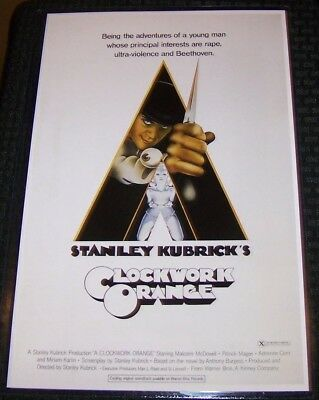 A Clockwork Orange Kubrick McDowell 11X17 Movie Poster