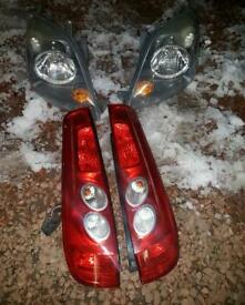 ford fiesta headlights&tail lights 3dr facelift zetec
