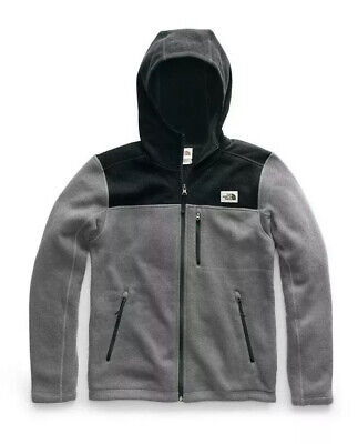 NEW The North Face Mens Gordon Lyons Full Zip Fleece Hoodie Jacket Gray XXXL 3XL