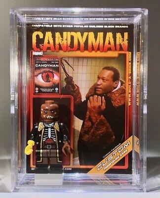 Halloween Action Figure (HORROR Candyman Halloween Custom Mini Action Figure w Case & Stand)