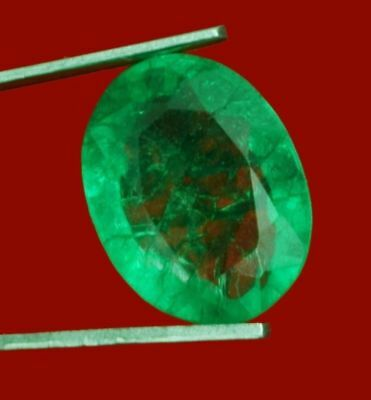 13x10.2mm (8.20cts) OVAL-FACET CERTIFIED NATURAL (GGL) COLOMBIAN EMERALD GEM