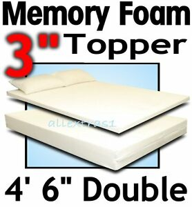 4ft-6-DOUBLE-BED-SIZE-3inch-MEMORY-FOAM-MATTRESS-TOPPER