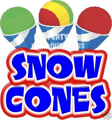 Snow Cones Decal 14 Shaved Ice Sno Kones Concession Food Truck Vinyl Sticker