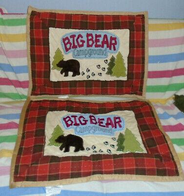 Woolrich kids Big Bear Campground Pair (2) Standard Pillow Shams