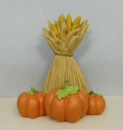 Small Corn Stalks with pumpkins - New by Blossom Bucket #12418