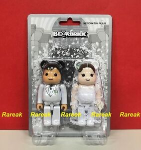 Medicom-Be-rbrick-2017-The-wedding-100-A-Groom-amp-Bride-2P-Bearbrick-set-2pcs