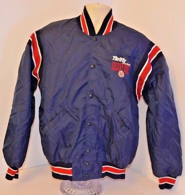 Vtg 90S Thrifty Car Rental Holiday Bowl Jacket Bomber Ncaa Mens Xl Made In Usa