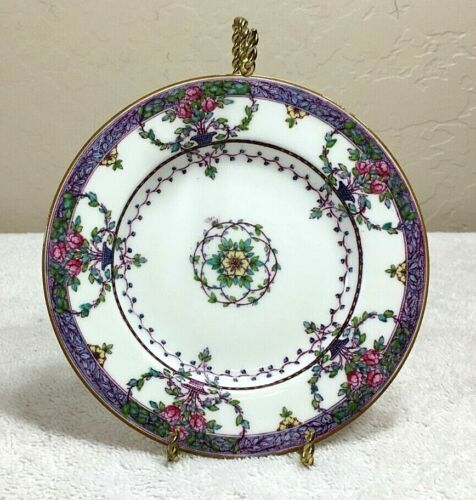 """11 Antique Royal Worcester Floral 6"""" Bread Plates, Hand-Painted 1915"""