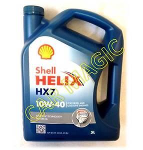 Shell helix hx7 gasoline petrol diesel engine oil 10w for Shell diesel motor oil