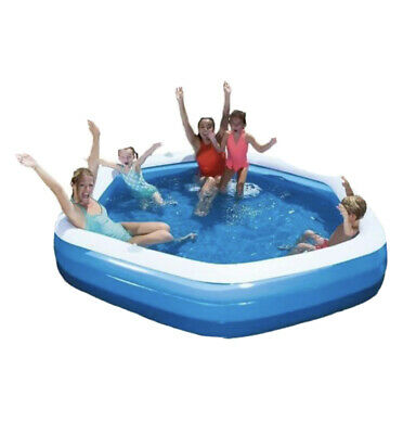 Bestway Hexagon Family Pool With Seats Patio Garden Paddling Swimming Pool