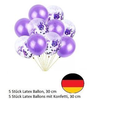 Lila Latex Ballon Set Helium Hochzeit Geburtstag Party Konfetti Neu