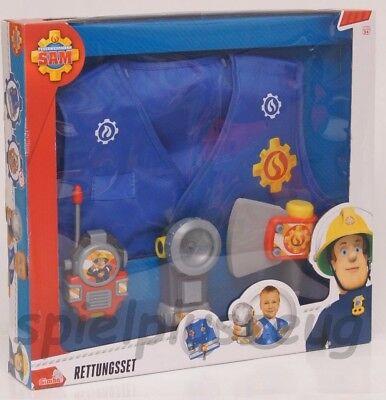 Kinder Kostüm-Set Feuerwehrmann Sam Rettungsset NEU - Männliche Disney Kostüm