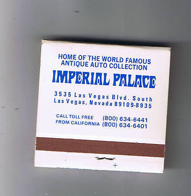 Imperial Palace Hotel Casino 1500 Rooms Unused Matchbook Las Vegas Nevada
