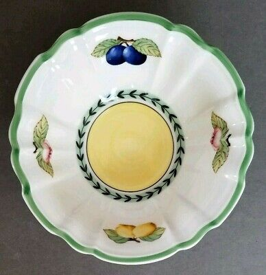 """VILLEROY & BOCH FRENCH GARDEN FLEURENCE 7 1/4"""" 20 oz FLUTED RICE BOWL NWT"""