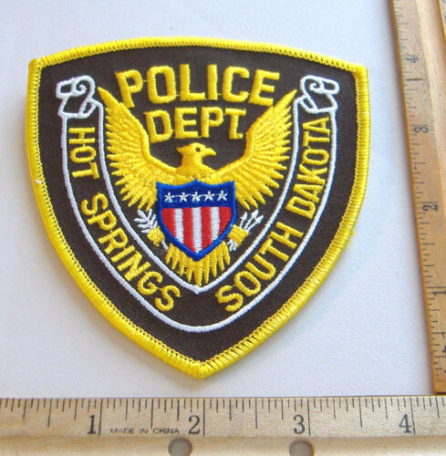 HOT SPRINGS POLICE DEPT.~ SOUTH DAKOTA FABRIC PATCH