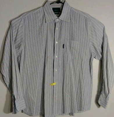 Faconnable Mens Long Sleeve Casual Button Front Shirt XL for sale  Shipping to India