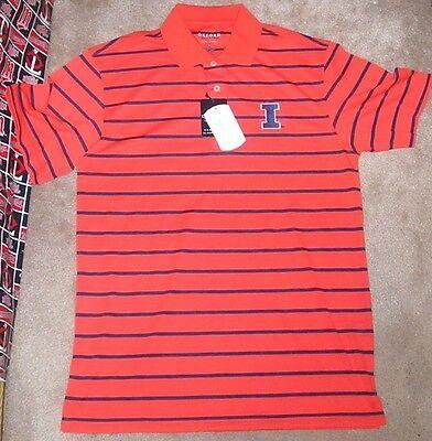 NEW NCAA Illinois Fighting Illini Golf Polo Shirt S Small Men Oxford NEW NWT Fighting Illini Oxford