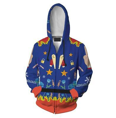 Movie Birds of Prey Harley Quinn Cosplay Costume Hoodie Sweatshirt Jacket Coat - Harley Quinn Kostüm Hoodie