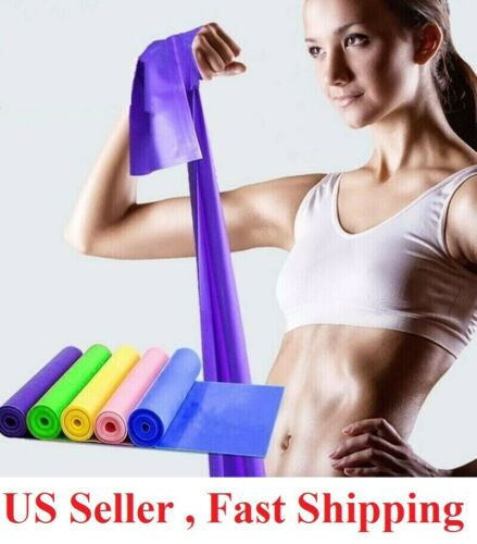 5 Feet Stretch Resistance Bands Exercise Pilates Yoga GYM Workout  Aerobic