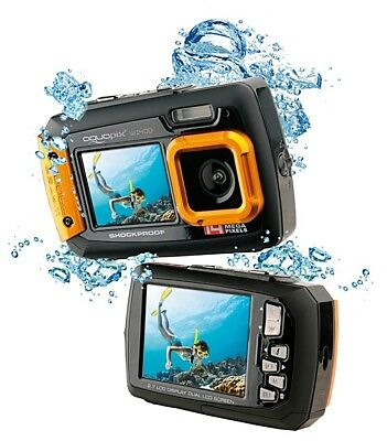 Easypix W1400 Active Unterwasserkamera Camcorder - orange / 20MP / 3m /