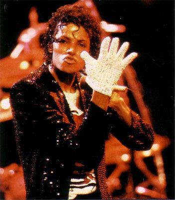 Mj Billie Jean Single Sided Blingbling Glove Hand Made Rhinestones Mittens Acces - Mj Gloves