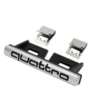p5zlzwr, 3D Car Quattro Logo Grille Sticker Quattro Badge Chrome Emblem AUDI
