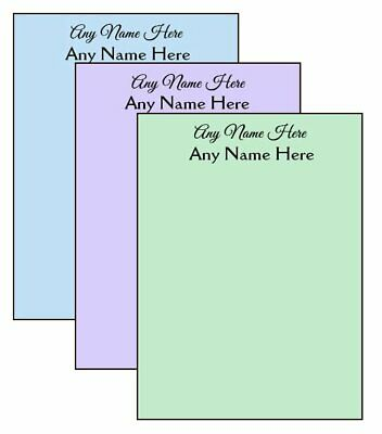 3-pack Multi-color Personalized Notepads 14-page 4.25 X 5.5 Memo Scratch Pads