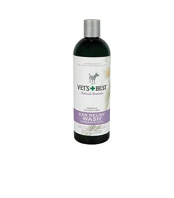 VETS BEST Ear Relief Wash for Dogs & Pets - 16 oz - Dramatic relief