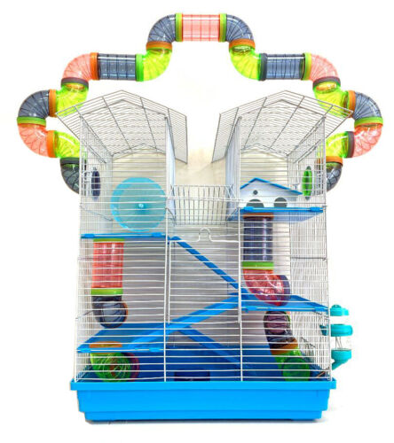 5-Levels Large Twin Towner Syrian Hamster Habitat Rodent Gerbil Mouse Mice 240