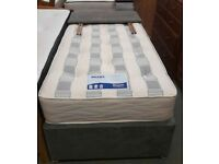 Decent Fabric 👉 Single Divan Bed & Mattress 👉 Stock For Sale